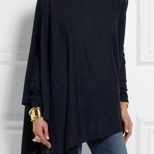 Navy blue round neck long sleeve top